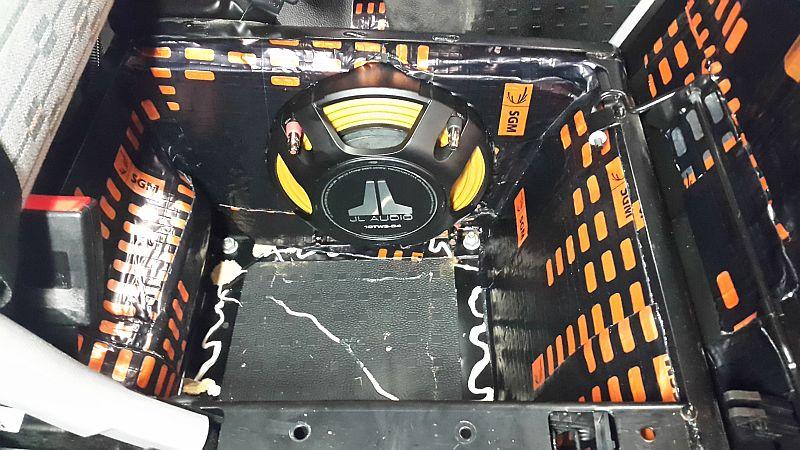 Under seat subwoofer installation